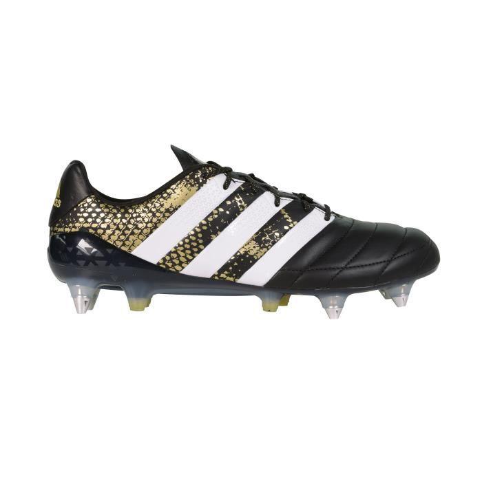 Chaussures football adidas ACE 16.1 SG Cuir Noir Prix pas