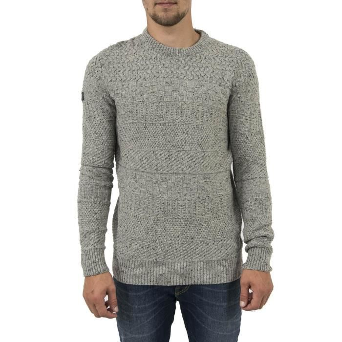 Achat Superdry M61010yp Gris Hiver Vente Pull w7qxA5PIp