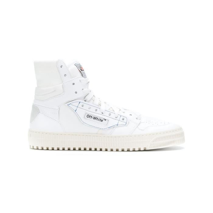 REBECCA MINKOFF HOMME OMIA065S188000160100 BLANC CUIR BASKETS MONTANTES