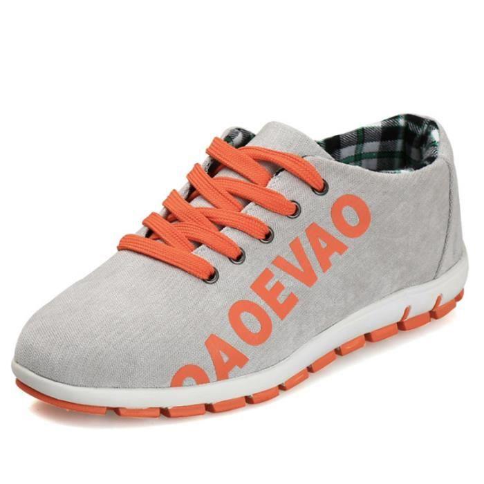 Chaussures De Sport Pour Hommes Textile De Course Antidérapant Casual BDG-XZ123Gris39