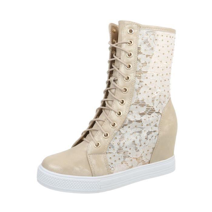 Chaussures femme des baskets semelle à talon compensé