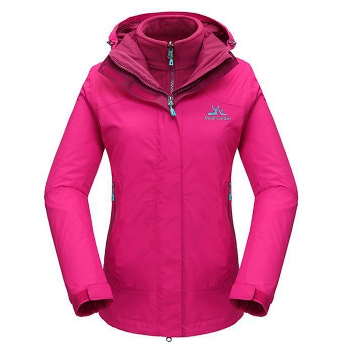 nouveau produit f69bd 2c0ec Blouson de ski Femme Anorak Veste de Ski Polaire Coupe-Pluie Coupe-Vent  Imperméable Hiver de Marque Vêtement doudoune pour Femmes