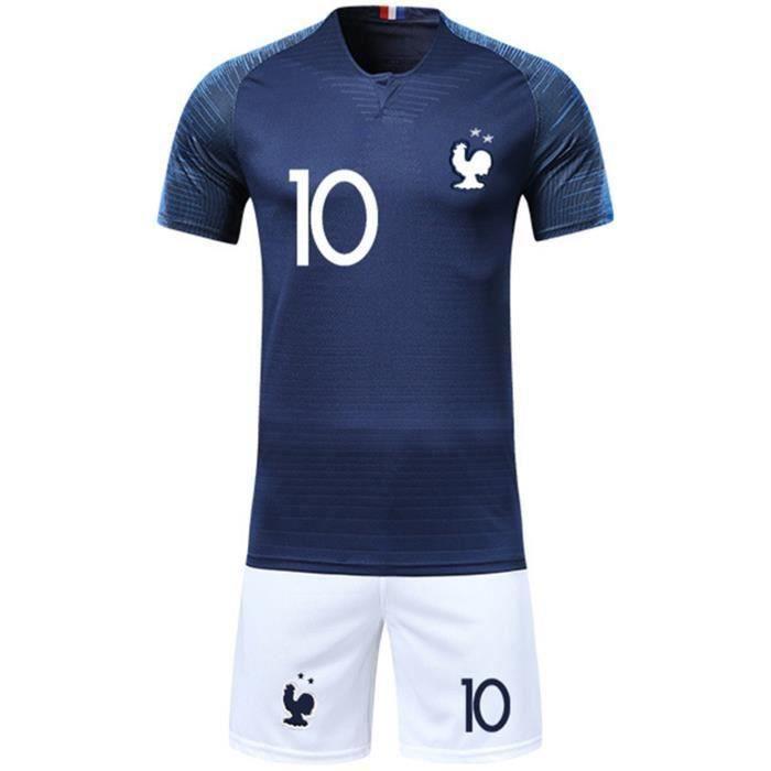 966c04efab610 Ensemble de Football Equipe France 2 Etoiles Maillot et Short Coupe du Monde  2018