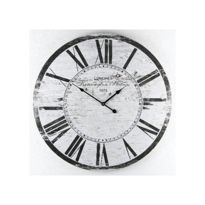 Horloge Pendule murale en MDF et chiffres romain, Diamétre 60 cm ...