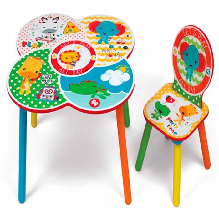 Ensembe Table De Jeu Enfant En Bois Avec Rangement Et Une Chaise
