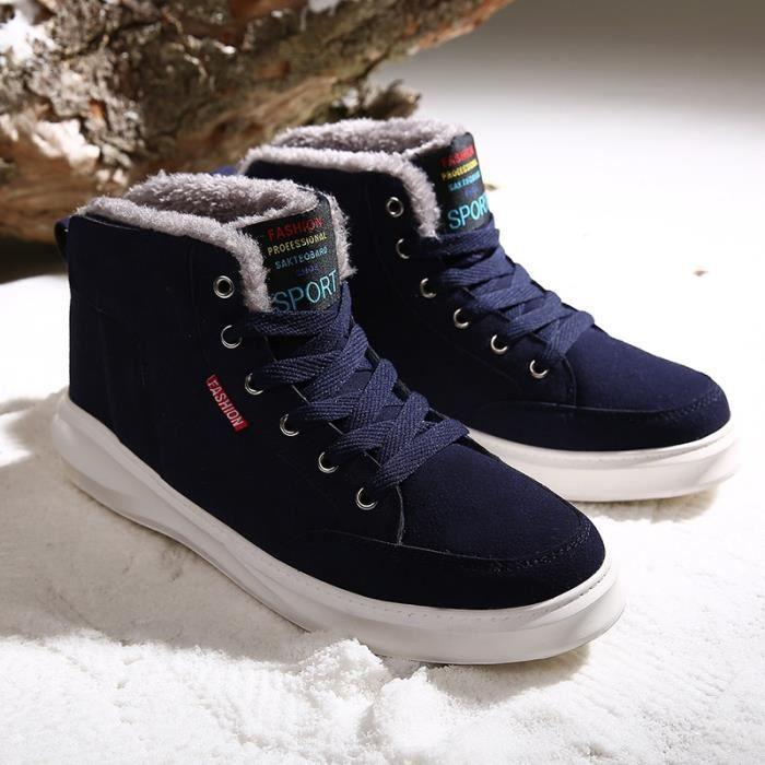 Botte Homme d'hiver loisirs épais Sole High Top Skater bleu foncé taille42