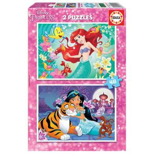 PUZZLE EDUCA  2x48 disney princesses