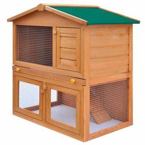 CLAPIER Clapier d'extérieur Enclos pour petits animaux 3 p