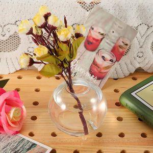 VASE - SOLIFLORE Vase en verre transparent rond Terrarium hydroponi