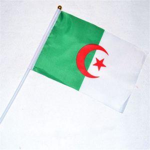drapeau dcoratif 100 x drapeau algerie 14 x 21 cm avec baton en pla - Vente Article De Decoration Alger