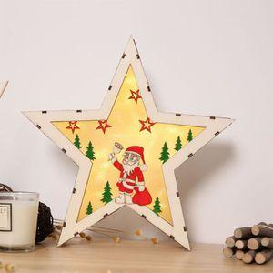 Weihnachts en bois bougeoir crèche de Noël-Coffret Santons, crèches