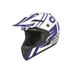 CASQUE MOTO SCOOTER Casque Cross Boost B690 Force 01 Blanc/Bleu M