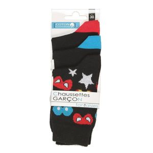 the best attitude 95676 df8df CHAUSSETTES Lot 3 paires de chaussettes fantaisies Masques - e ...
