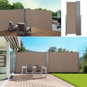 PARAVENT Paravent extérieur rétractable double 600x140 cm t