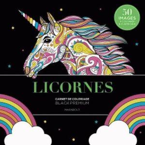LIVRE 0-3 ANS ÉVEIL Livre - black premium licornes