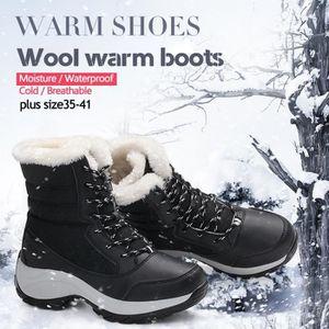 Bottes pour Femmenoir 6.5 Mode Femme chaud Hauts Hauts hiver cachemire plus Chaussures fourrure (noir, gris)_1301