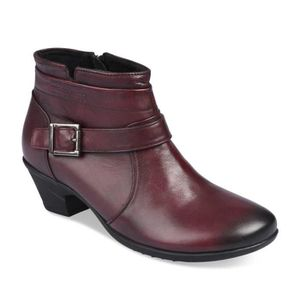 Bottines ROUGE NEOSOFT FEMME CUIR Femme Chaussea Rouge Rouge