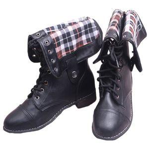 BOTTINE Minetom Bottes De Femme Chaussures Hiver Rétro Che