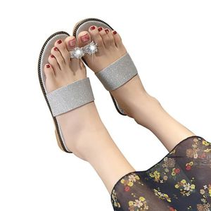 SANDALE - NU-PIEDS Femmes Mode Solide Couleur évider Out Toe Flat San