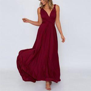 7e8b19c14f ROBE Robe longue Femmes Sexy Maxi manches Couleur unie