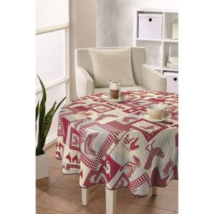 toile ciree table ronde achat vente toile ciree table ronde pas cher soldes d s le 10. Black Bedroom Furniture Sets. Home Design Ideas