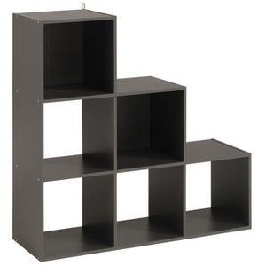 CASIER POUR MEUBLE Cube de rangement Etagère 6 cases dégradé coloris