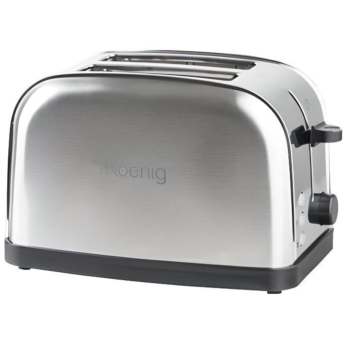 Grille pain - Capacité : 2 tranches - 6 niveaux de cuissons - Plateau ramasse-miettes - Fonction décongélation, réchauffage et annulation - Rangement facile du cordonGRILLE-PAIN - TOASTER