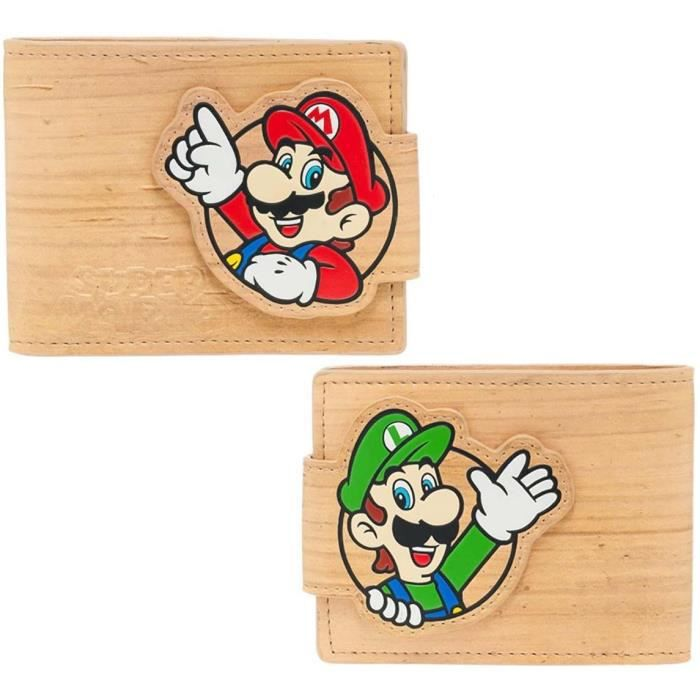 Portefeuille fibre de bois pliable Mario: Mario/Luigi