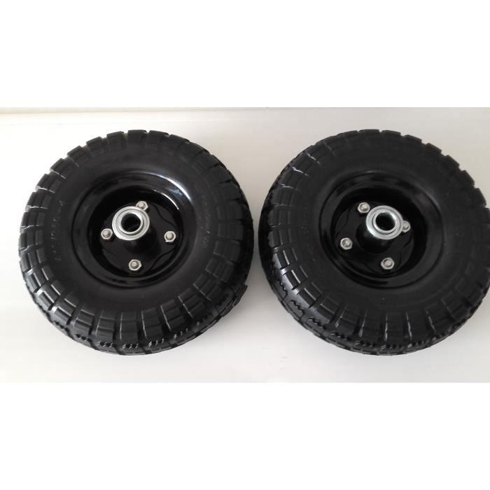 roues increvables de diable ou chariot par deux en axe 16 mm pneu 260 x 85 mm achat vente. Black Bedroom Furniture Sets. Home Design Ideas