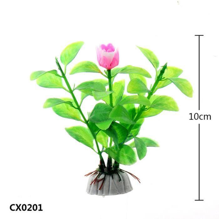 10pcs Aquarium Fish Tank Décoration En Plastique Vert Herbe Plantes Eau Hexqa304