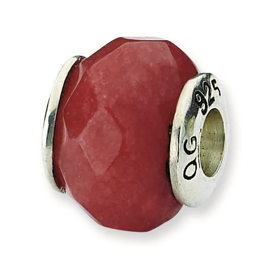 Argent Sterling réflexions Rouge pierre Quartz Charm perle