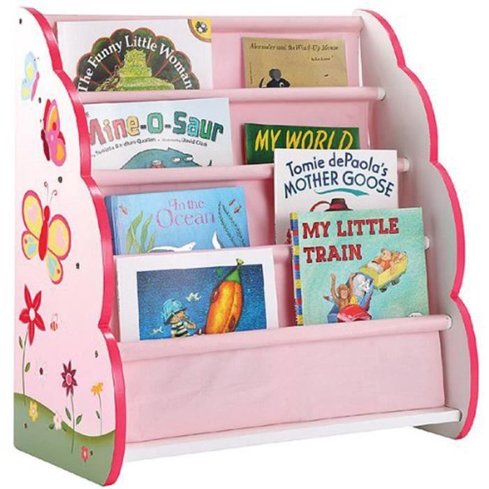 Petite biblioth que en bois enfants papillon d achat vente tag re biblioth que - Bibliotheque enfant en bois ...
