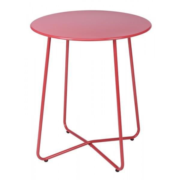 Table ronde en metal rouge - Achat / Vente table de jardin ...