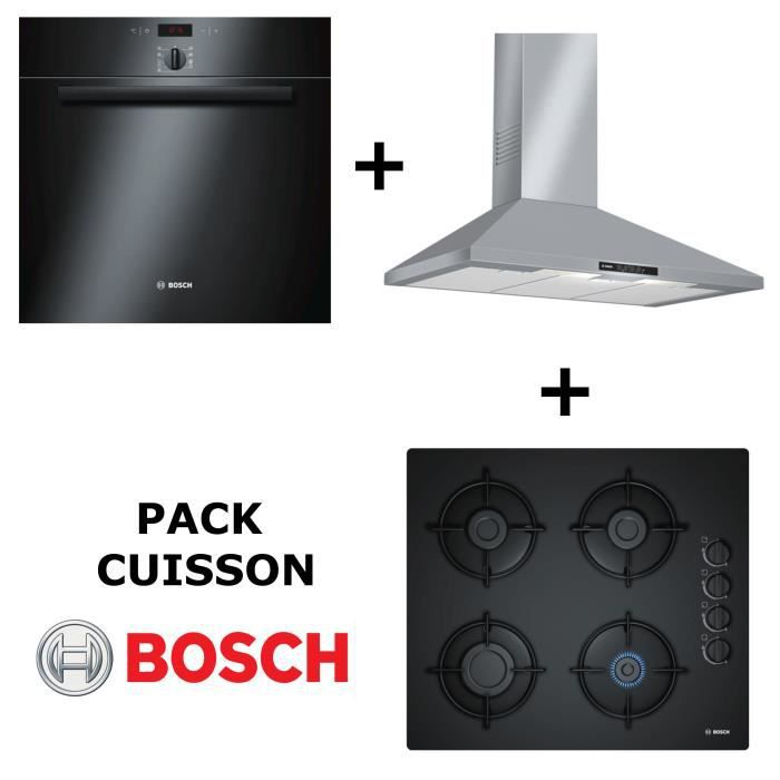 LOT APPAREIL CUISSON BOSCH - Pack cuisson : Four multifonction pyrolyse