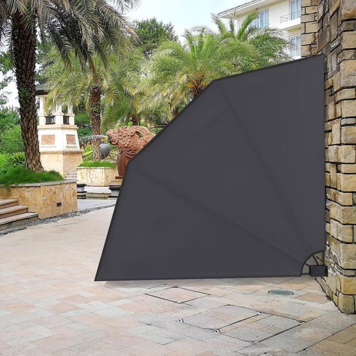 toluca gris brise vue ventail repliable paravent. Black Bedroom Furniture Sets. Home Design Ideas