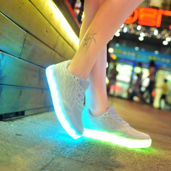 2016 femmes light up led lumineux chaussures re...
