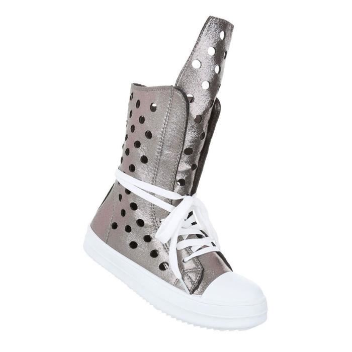 Femme chaussures de loisirs chaussures Sneakers chaussures de sportargent gris 40 jyjaWfH