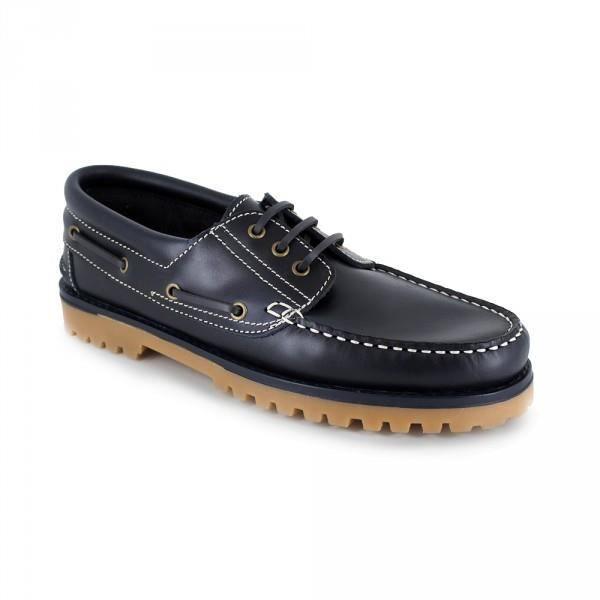 J.bradford Mocassin Bateaux  Cuir JB-DOLAR Marine - Livraison Gratuite avec - Chaussures Chaussures bateau Homme