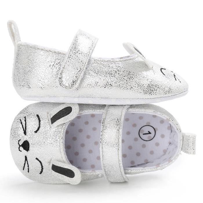 BOTTE Toddler Baby Wave Point nouveau-né modèle de chat mignon enfants chaussures à semelle souple@ArgentHM j4IWg