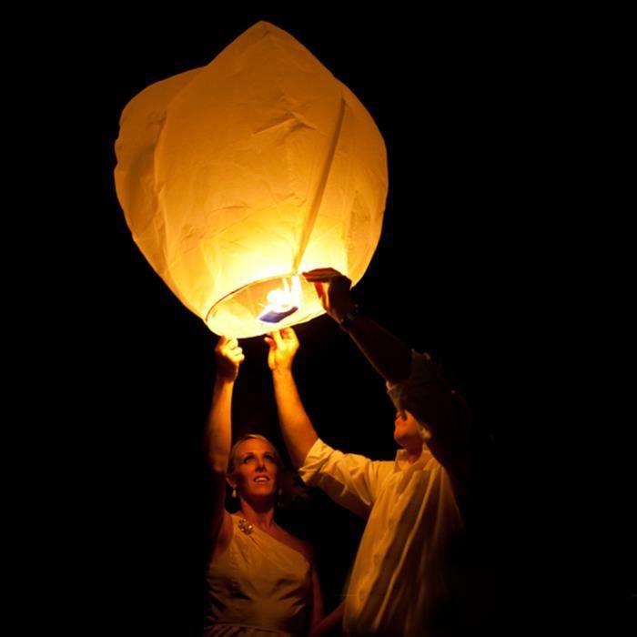 Vinus 10pcs Kongming Chinois Qui Souhaitent Lanterne Flying Ciel