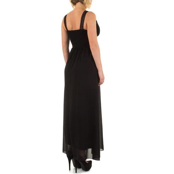 femmes robe robe de soirée Maxirobe de fête robe noir S