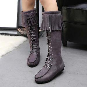 Bottes d'hiver des femmes bottes gland chaud mi-mollet bottes chaudes chaussures d'hiver Noir WE904 PV1UGA