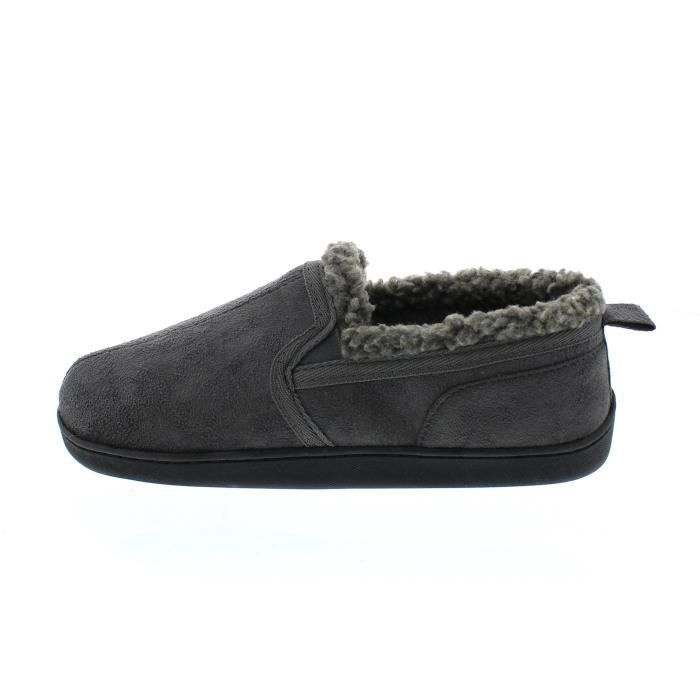 Norman Memory Foam Slippers Warm Sherpa Fleece Lined House Shoes Casual Slip On Loafers EPQ3T Taille-43