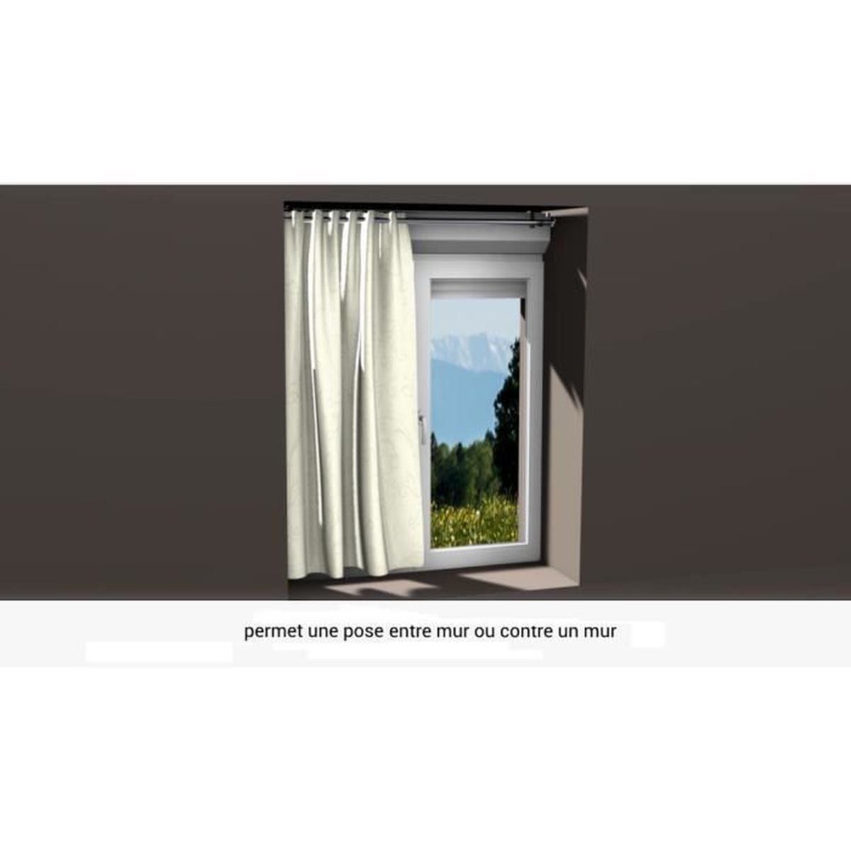Support de tringle à rideaux ᴓ 28mm pour coffre volet roulant sans ...