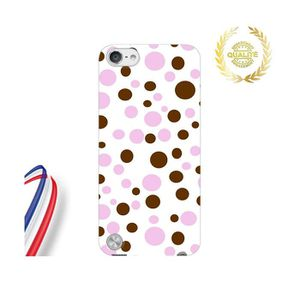 COQUE MP3-MP4 Coque iPod Touch 6 Apple Point 3D Marron Rose