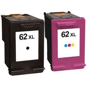 CARTOUCHE IMPRIMANTE Packs 2 cartouches pour HP 62XL Noire et Couleur C