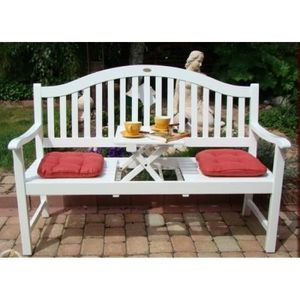 Salon de jardin en bois Blanc Singapur - Achat / Vente banc d ...