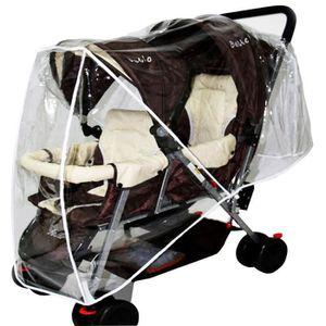 sac de rangement pour poussette avec 2 porte-gobelets isol/és accessoires de poussette pour ranger les bouteilles Organisateur pour poussette b/éb/é couches jouets velcro large anti-d/érapant Noire