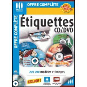 CD - DVD VIERGE Etiquettes CD-DVD-(PC en Téléchargement)