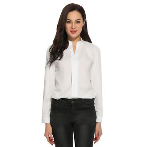 CHEMISE - CHEMISETTE chemise Femmes à manches longues Sexy v-Neck solid